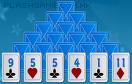 藍紙牌金字塔遊戲 / Solitaire Matcher Game
