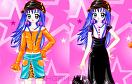 時尚少女的試衣間遊戲 / Blue Hair Star Dressup Game