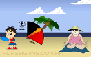 沙灘扔飛盤遊戲 / Big Beach Sports Game